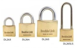 brass double link padlocks