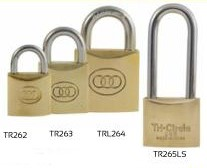 brass tri circle padlocks