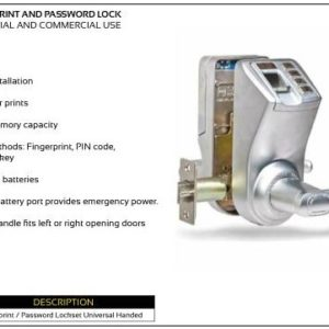 ADEL Fingerprint and Password Lock