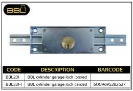 BBL Cylinder Garage Lock