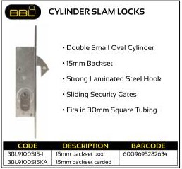 BBL Cylinder Slam Locks