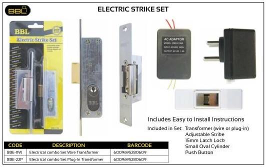 BBL Electric Strike Set
