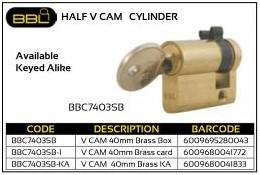 BBL Half V Cam Cylinder