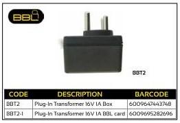 BBL Plug-In Transformer 16V