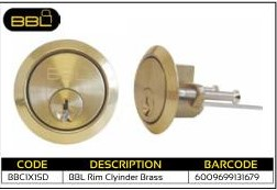 BBL Rim Cylinder Brass