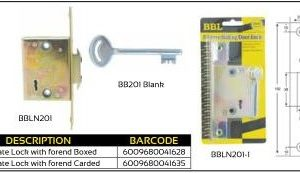BBL Sliding Gate Lock with forend