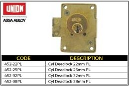 Cupboard Lock Cyclinder Deadlock