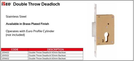 ISEO Double Throw Deadlock