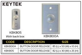 Keytek Button Door Release