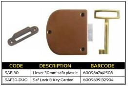 SAF Cupboard Lock 30mm