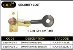 Security Bolt