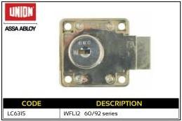 Union Cupboard Lock 60 or 92 series