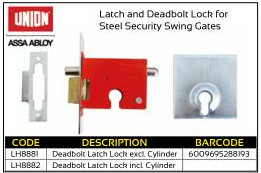Union Deadlock Latch Lock