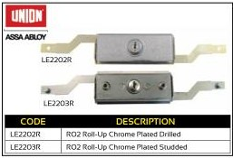 Union Roll-Up Chrome Plated Drilled Garage Lock