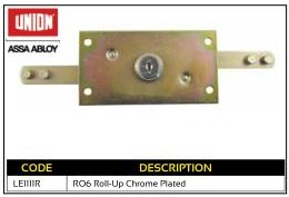 Union Roll-Up Chrome Plated Garage Lock