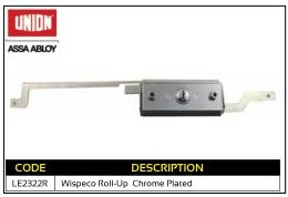 Union Wispeco Roll-Up Chrome Plated Garage Lock
